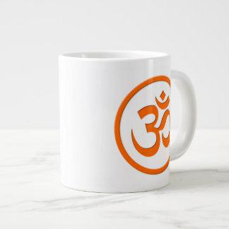 Om or Aum Jumbo Mug 20 Oz Large Ceramic Coffee Mug