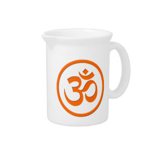 Om or Aum Pitcher