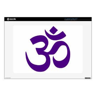 """Om or Aum Symbol (Indigo color) Decals For 15"""" Laptops"""
