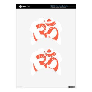 Om or Aum Symbol (tomato color, minimalist) Xbox 360 Controller Skin