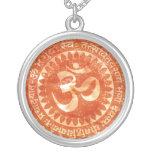 om orange pendant