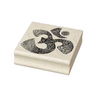 OM Ornaments + your backgr. & ideas Rubber Stamp