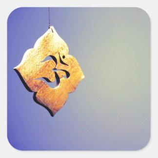 Om - Peace Square Sticker