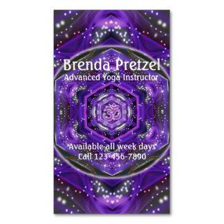 OM Purple Mandala Business Card Magnet