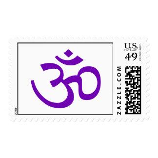 OM púrpura o Aum ॐ png Sello