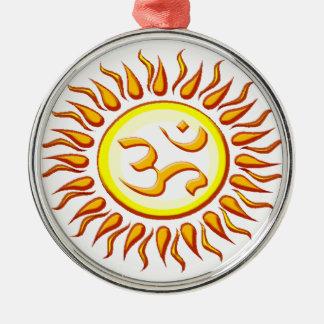 OM radiante Sun Adorno Navideño Redondo De Metal