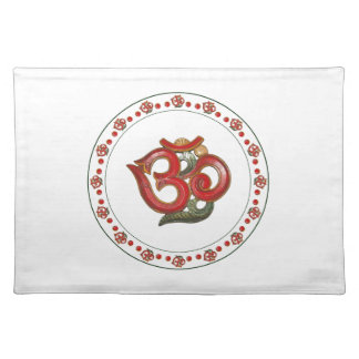 OM red green wood carved American MoJo Placemats