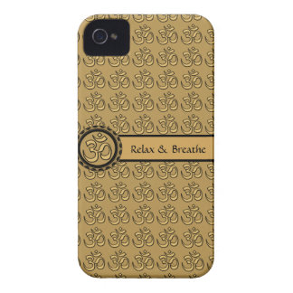 Om Relax & Breathe Gold iPhone 4 Case