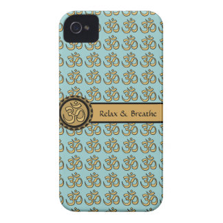 Om Relax & Breathe Gold iPhone 4 Case 2