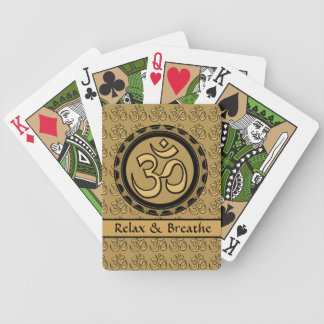 Om Relax & Breathe Gold Playing Cards