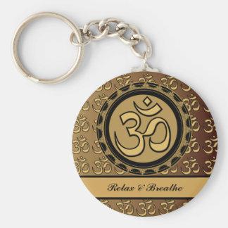 Om Relax Breathe Keychain
