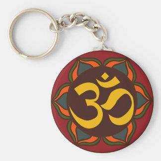 Om Retro Symbol Inner Peace Design! Keychain