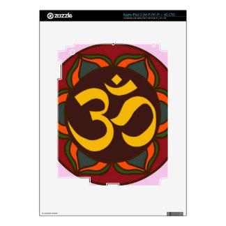 Om Retro Symbol Inner Peace Design! Skin For iPad 3