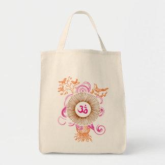 OM (rosas) Bolsa Tela Para La Compra