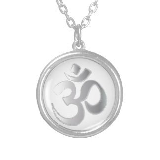 OM ROUND PENDANT NECKLACE