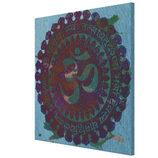 om rust color canvas print