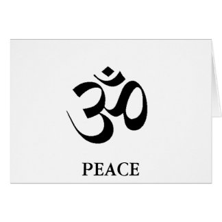 OM - SANSCRIT FOR PEACE CARD