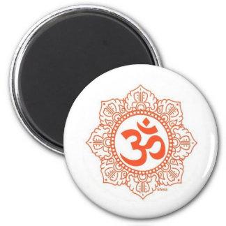 om shanti 2 inch round magnet