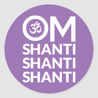 Om Shanti Classic Round Sticker