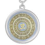 Om Shanti Mandala Pendant Necklace