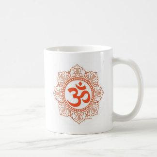 om shanti classic white coffee mug