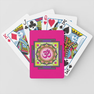 Om Shanti Om Mandala Bicycle Playing Cards