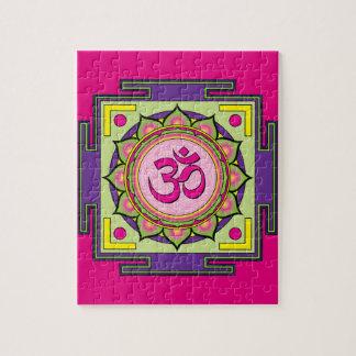 Om Shanti Om Mandala Jigsaw Puzzle