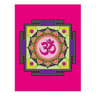 Om Shanti Om Mandala Postcard