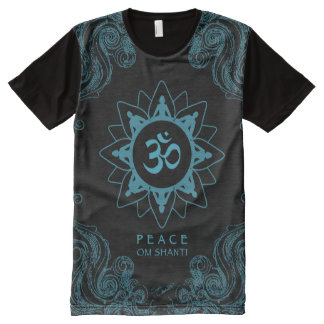 Om Shanti - Peace All-Over Print T-shirt