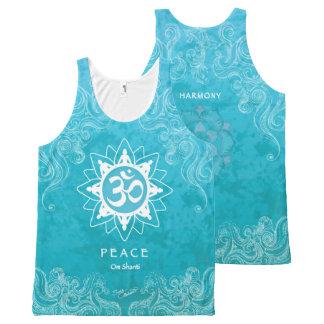 Om Shanti - Peace (XL) All-Over Print Tank Top