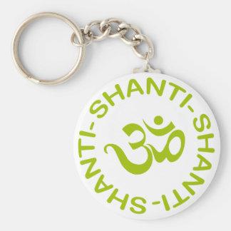 Om Shanti Shanti Shanti Gift Basic Round Button Keychain