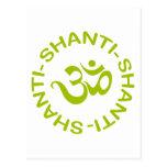 Om Shanti Shanti Shanti Gift Postcard