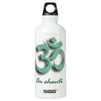 Om Shanti Symbol Water Bottle