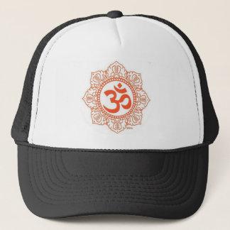 om shanti trucker hat