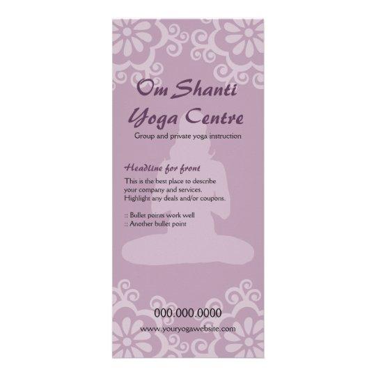 Om Shanti Yoga Rack Card