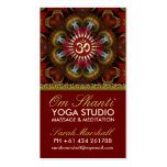 Om Shanti Yoga Red Gold Business Cards