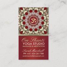 Om Shanti Yoga Studio Business Card