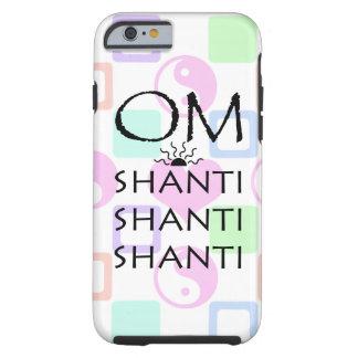 OM-Shanti/Yoga/Yin-Yang+Hearts Pattern Tough iPhone 6 Case