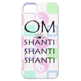 OM-Shanti/Yoga/Yin-Yang+Hearts Pattern iPhone SE/5/5s Case