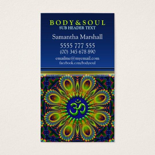Om Sign Fractal Mandala Yoga NewAge Business Cards