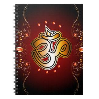 Om sign spiral note books
