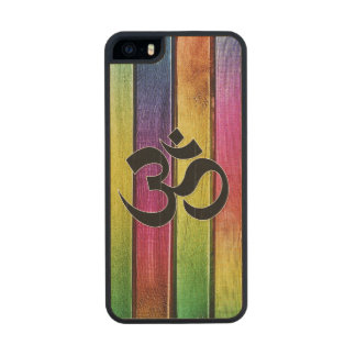 Om sign on multicolor wood carved® maple iPhone 5 case