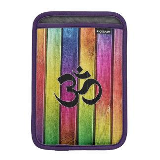 Om sign on multicolor wood sleeve for iPad mini