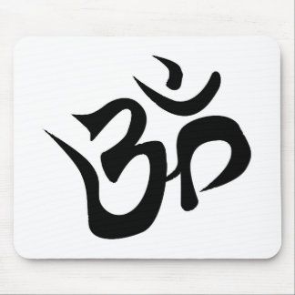 Om Silhouette Mouse Pad