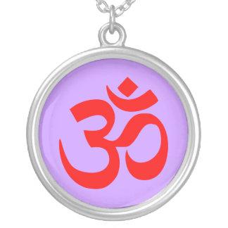 OM Silver Yoga Necklace