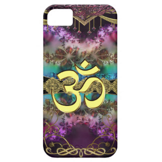 OM-Símbolo del metal del oro en la tapicería del f iPhone 5 Carcasa