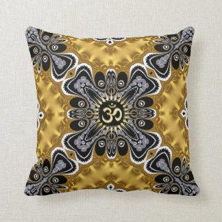 Om Spritiual Art Gold Splash Cushion Pillow