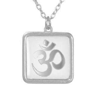OM SQUARE PENDANT NECKLACE