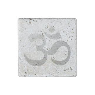 Om Stone Magnet