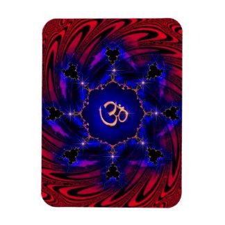Om Swirl Fractal Mandala Premium Flexi Magnet